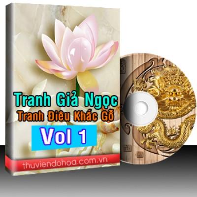 Tranh Giả Ngọc, Tranh Điêu Khắc Gỗ Vol 1 (500 mẫu)
