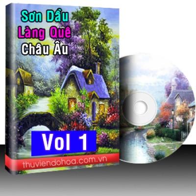 Tranh sơn dầu làng quê Châu Âu Vol 1 (493 mẫu)