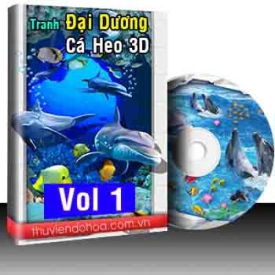 Tranh đại dương, cá heo 3D Vol 1