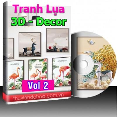 Tranh Lụa,3D,Decor Vol 2 (419 mẫu)
