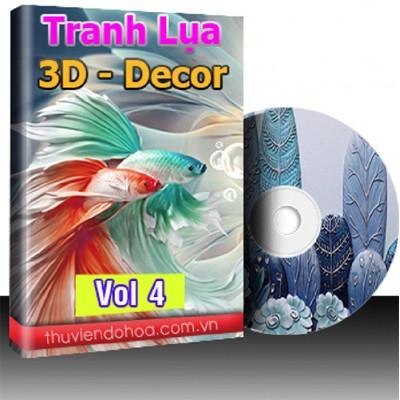 Tranh Lụa,3D,Decor Vol 4 (525 mẫu)