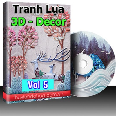 Tranh Lụa,3D,Decor Vol 5 (503 mẫu)