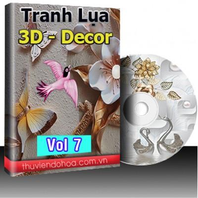 Tranh Lụa,3D,Decor Vol 7 (470mẫu)