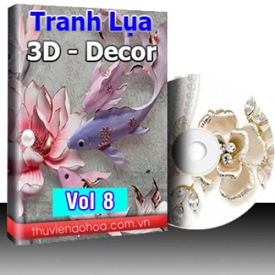 Tranh Lụa,3D,Decor Vol 8 (489 mẫu)