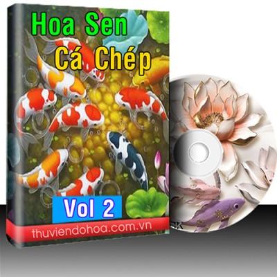 Tranh Hoa Sen Cá Chép Cá Koi Vol 2 (548 mẫu)