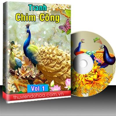 Tranh chim Công, mẫu đơn vol 1 (686 mẫu)