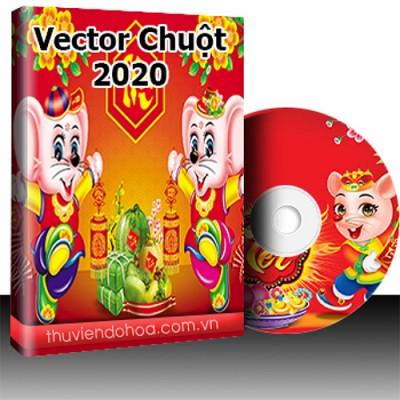 Tranh Vector con chuột Canh Tý 2020 (37 mẫu)