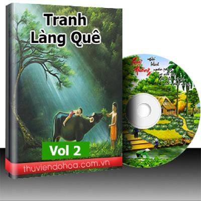 Tranh làng quê Việt Nam vol 2 (134 mẫu)