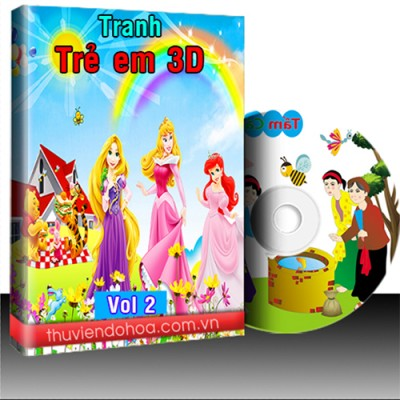 Tranh Trẻ em 3D vol 2 (724 mẫu)