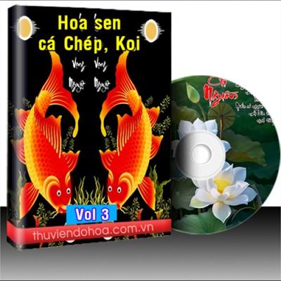 Tranh hoa sen cá chép koi vol 3 (465 mẫu)