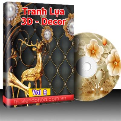 Tranh Lụa 3D, Decor vol 9 (1122 mẫu)