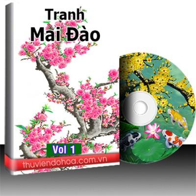 Tranh Mai Đào vol 1 (208 mẫu)