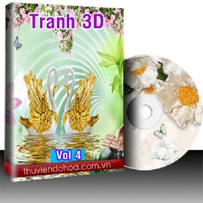 Tranh 3D vol 4 (1396 mẫu)