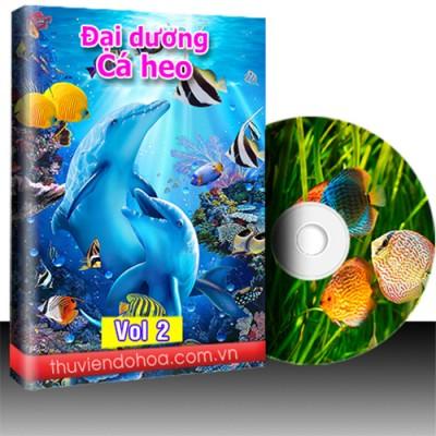 Tranh đại dương, cá heo vol 2 (681 mẫu)