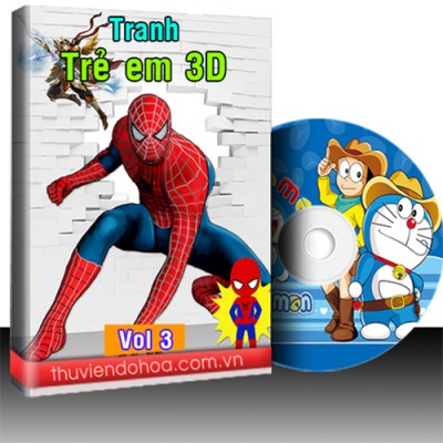 Tranh 3D trẻ em vol 3 (1259 mẫu)
