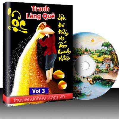 Tranh làng quê Việt Nam vol 3 (319 mẫu)