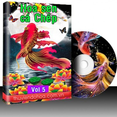 Tranh sen, cá chép vol 5 (746 mẫu)