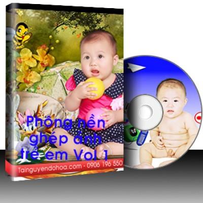 Phông nền ghép ảnh trẻ em - Vol 1